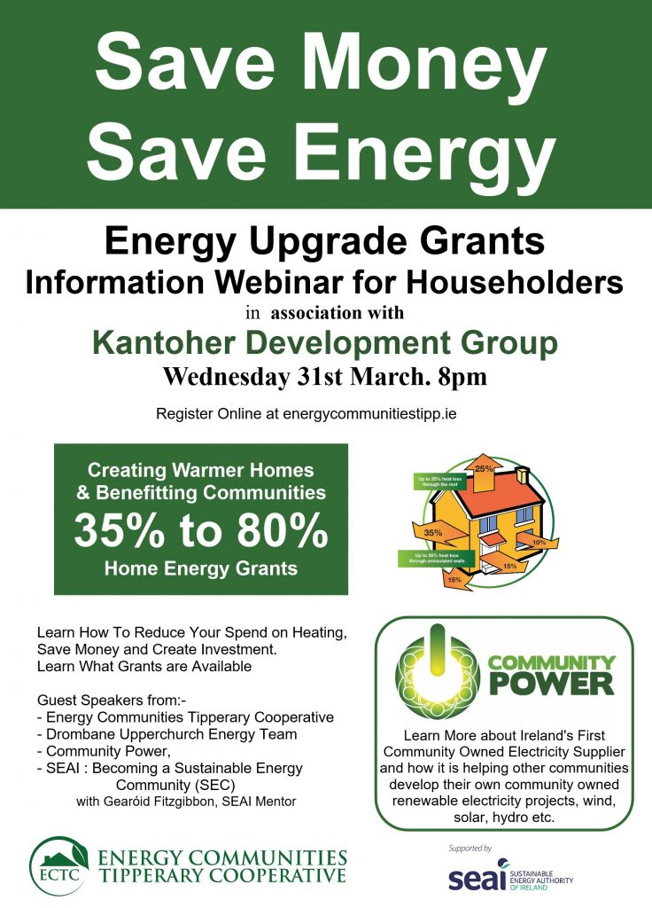 kantoher energy information webinar energy communities tipperary cooperative ectc